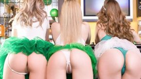 Trei fete colege de scoala vor sperma lui toata